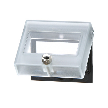 Transparent cover, lockable